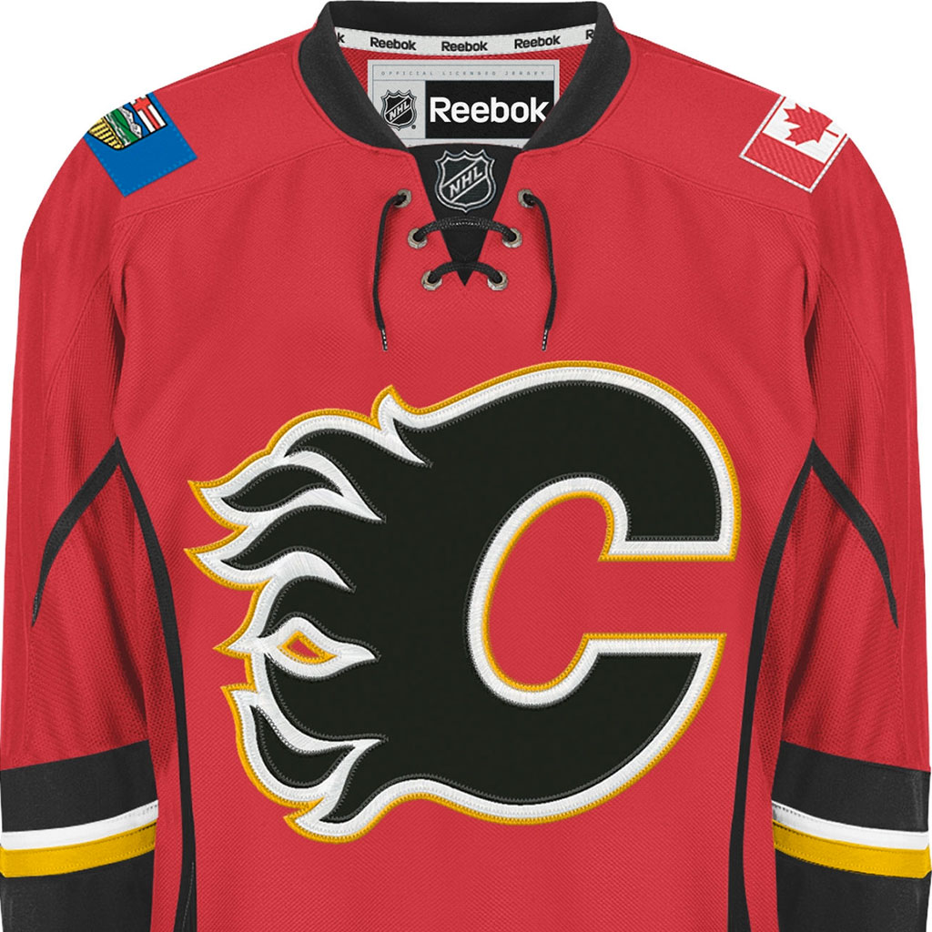 large reebok calgary flames nhl jersey - buy online at the best price  7aee482c903